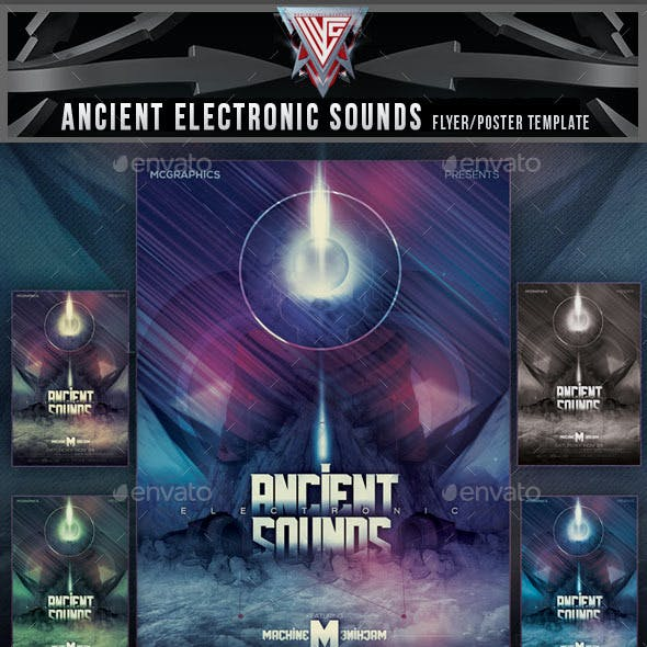 Ancient Electronic Sounds Flyer Template