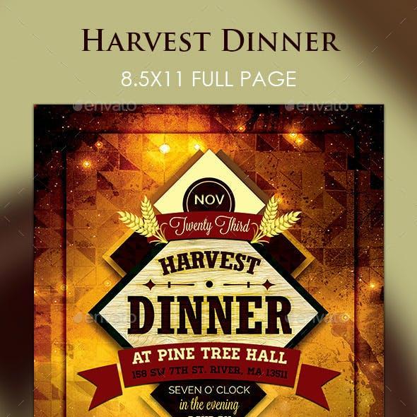 Harvest Dinner Flyer