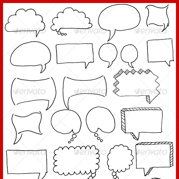 HAND DRAWN - WEB COMMENT BOXES