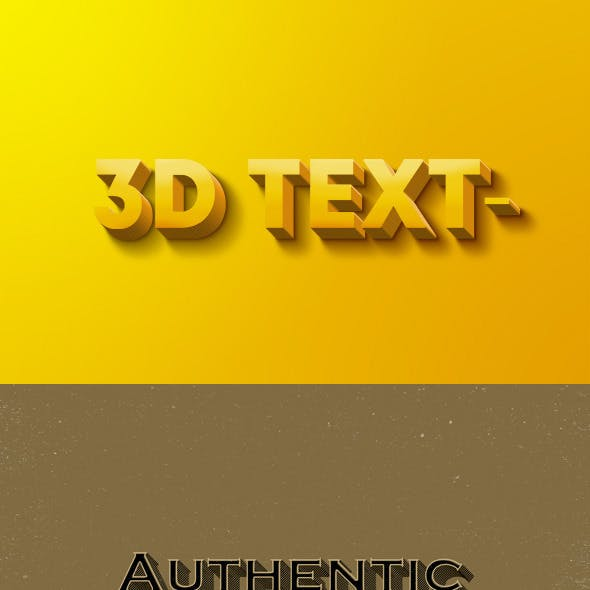 Text Effects | Vintage | 3D | Bundle Vol. 1-3