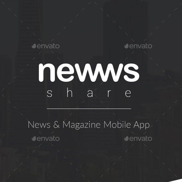 Newws Share - News & Magazine App - UI