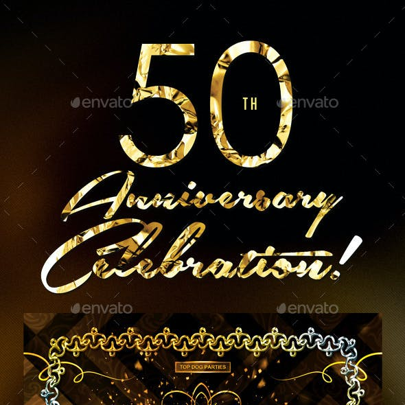 50Th Anniversary Graphics, Designs & Templates from GraphicRiver