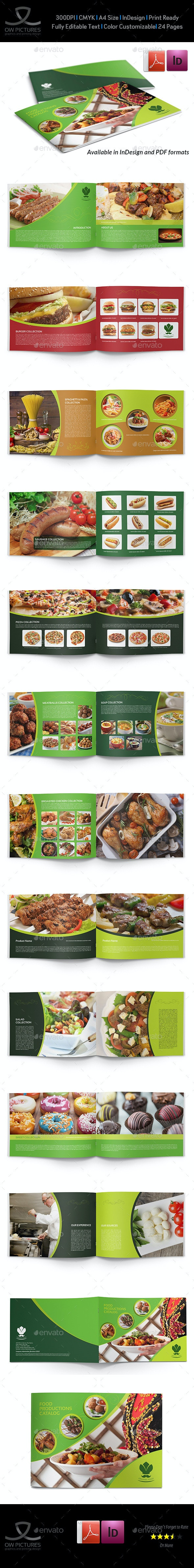 Food Products Catalog Brochure Template - 24 Pages - Catalogs Brochures