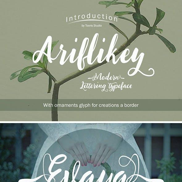 Ariflikey Typeface