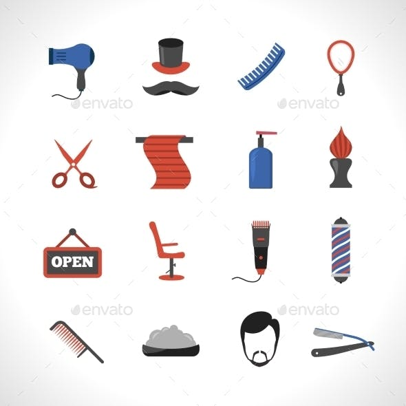 Barber Icons Set