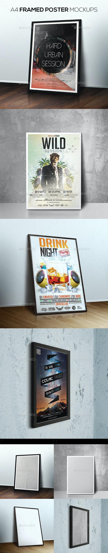 Framed Poster Mockups - Posters Print