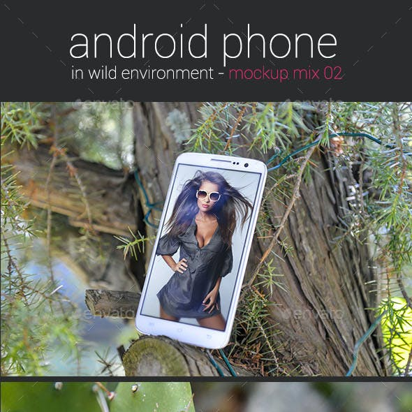Android Phone in Wild Environment ver. 02 - Mockup