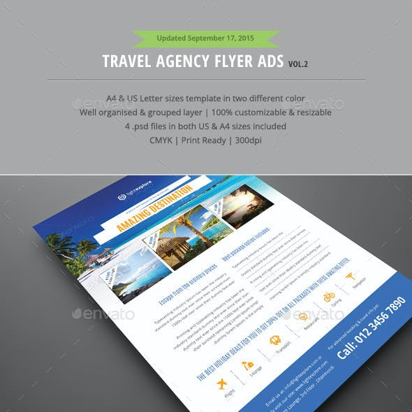 Travel & Vacation Flyer Ads Vol.2