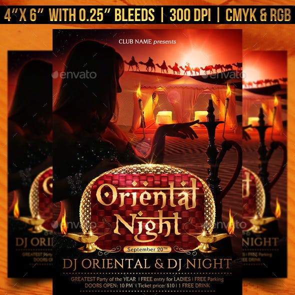 Oriental Night Flyer Template