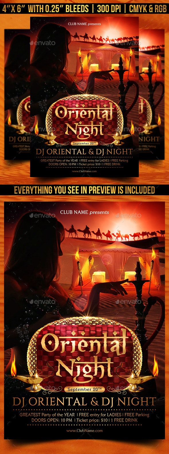 Oriental Night Flyer Template - Clubs & Parties Events