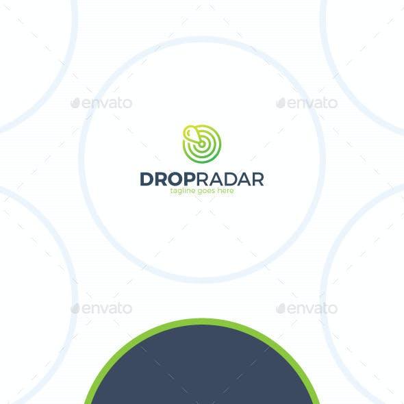 Water Drop Sonar Logo - Marker Radar
