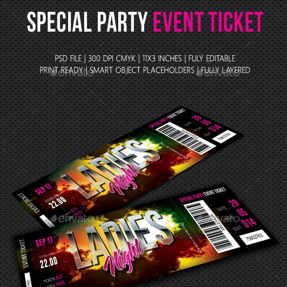 Special Party Event Ticket V07