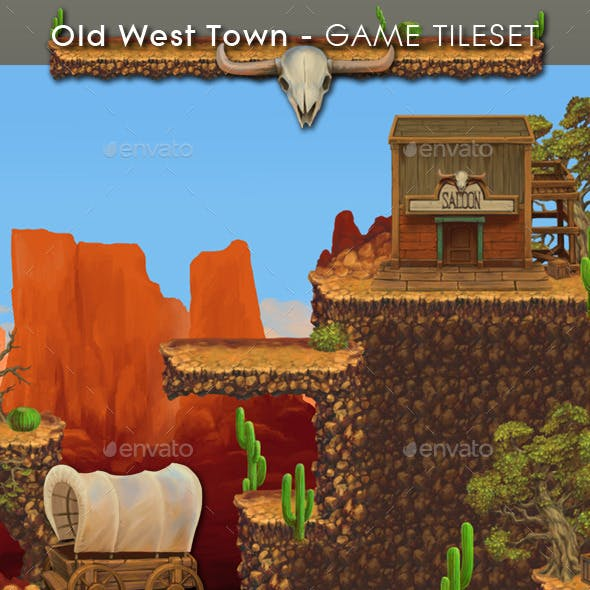 Old West Town - Platform Tileset