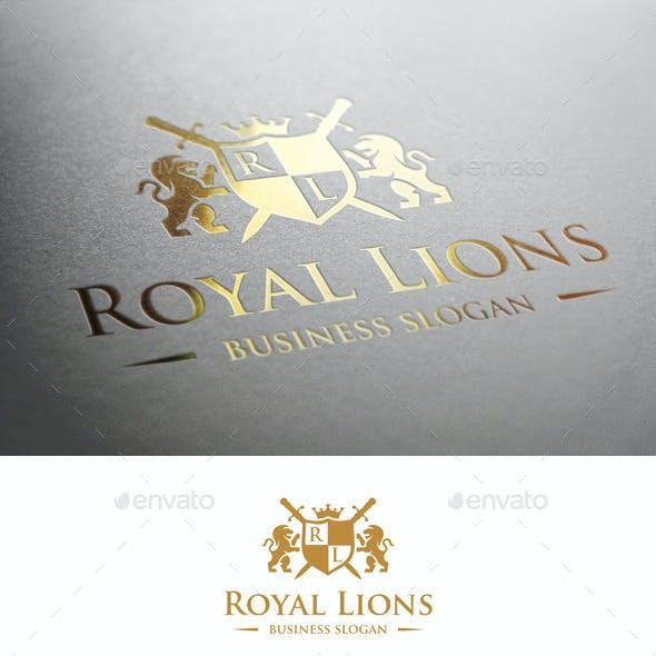 Royal Lions Heraldic Crest Logo