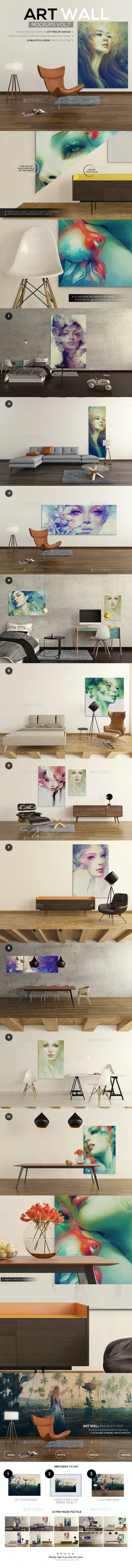 Art Wall Mockups Vol7 - Miscellaneous Print