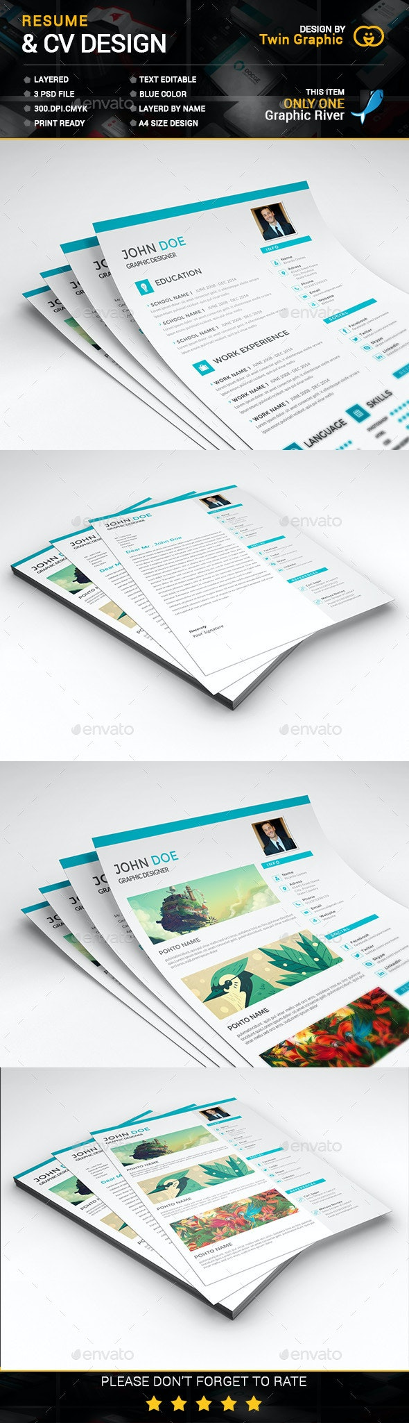 This is Cv Resume  design. - Resumes Stationery