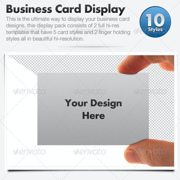 Business Card Display Templates - Hi Res