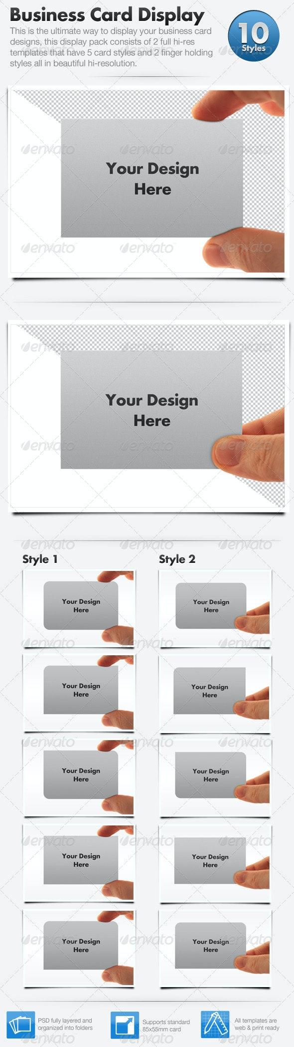 Business Card Display Templates - Hi Res - Business Cards Print