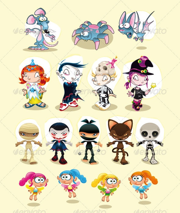 Halloween and Carnival characters - Halloween Seasons/Holidays