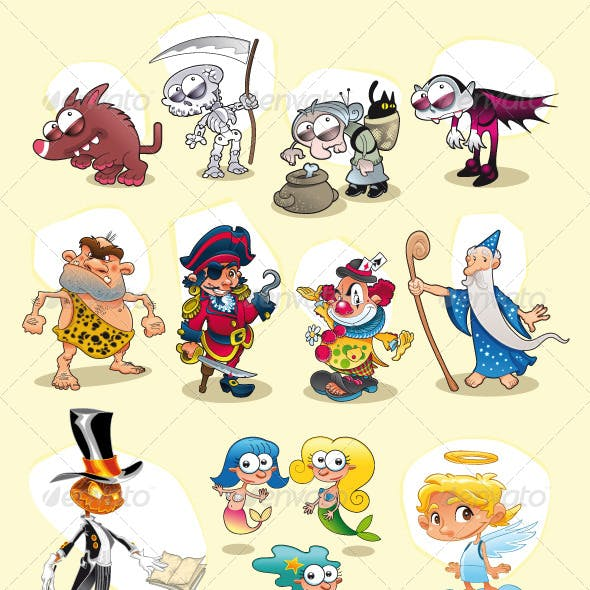 Halloween and Carnival characters