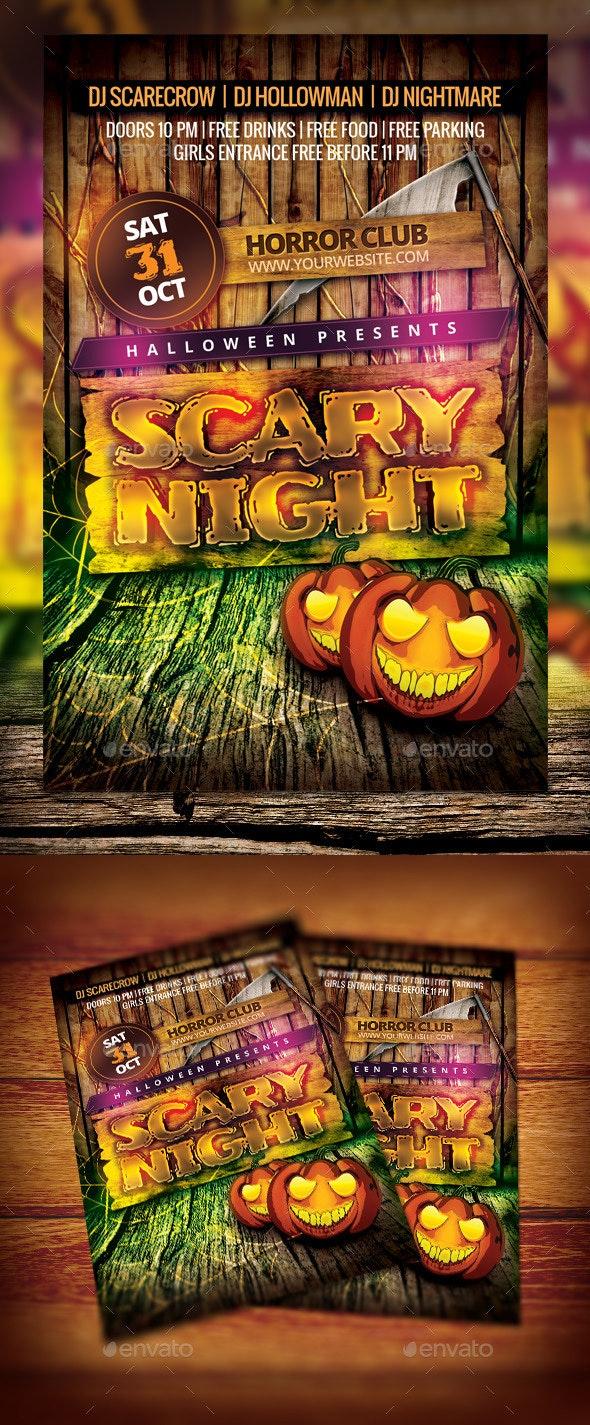 Kids Halloween Night Flyer - Clubs & Parties Events