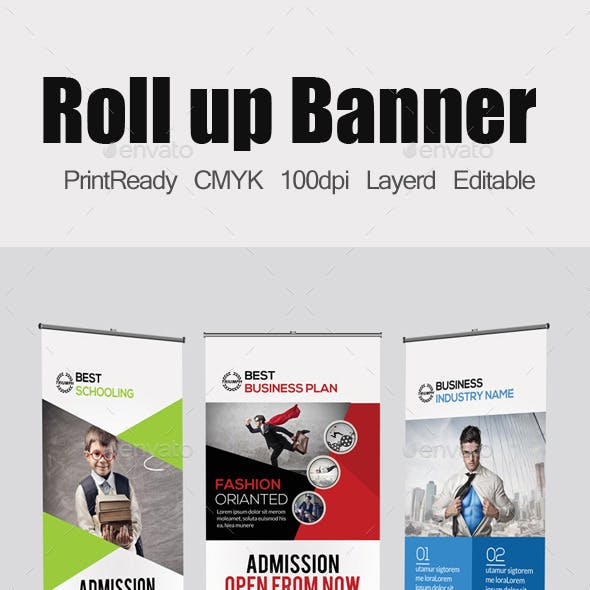 3 Business Roll Up Banners Template