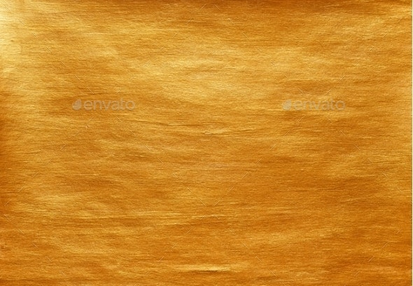 Gold Watercolor Texture Paint Stain Abstract - Metal Textures
