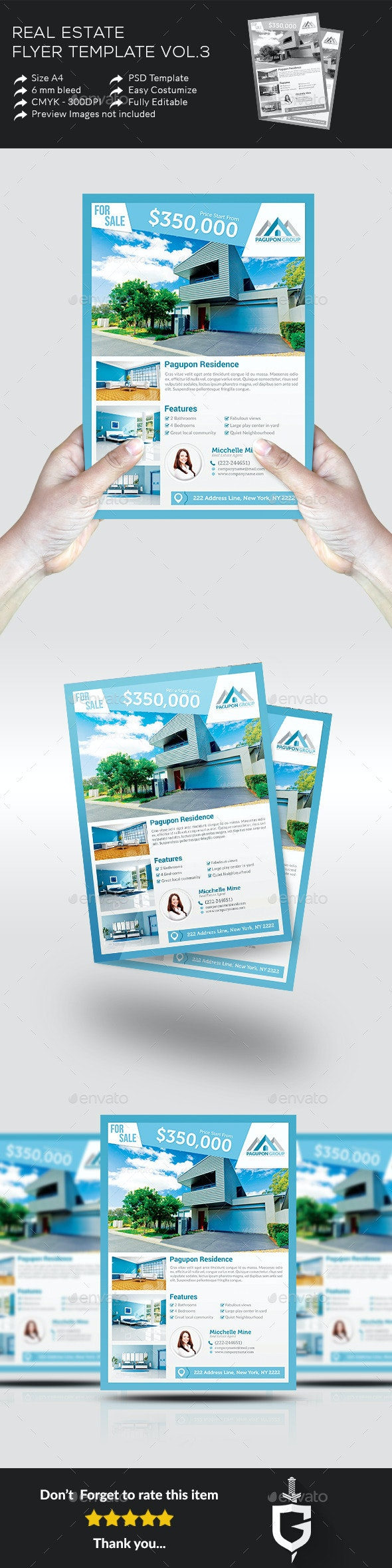 Real Estate Flyer Template Vol.3 - Commerce Flyers