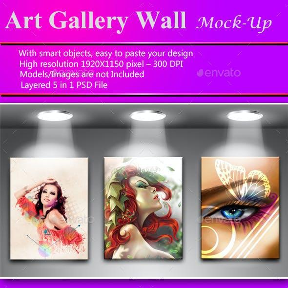 Art Gallery Wall Mock-up