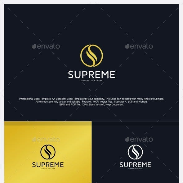 Letter S - Supreme Logo