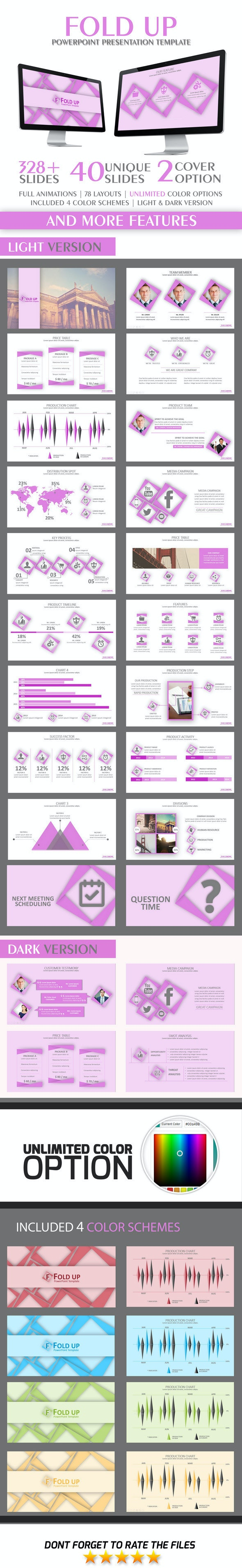 Fold Up PowerPoint Template - Business PowerPoint Templates