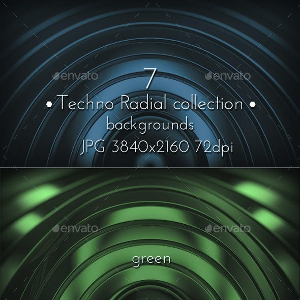 Modern Radial Techno Surface