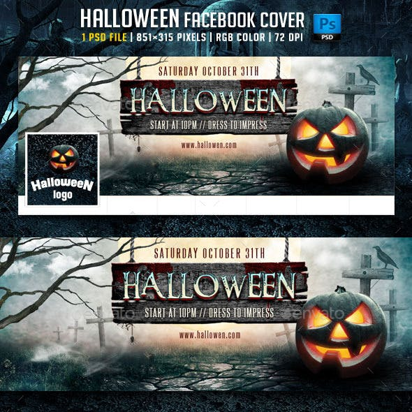 Halloween Facebook Cover v3