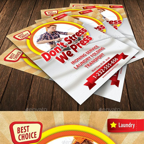 Retro Cleaning Day Flyer Template 118