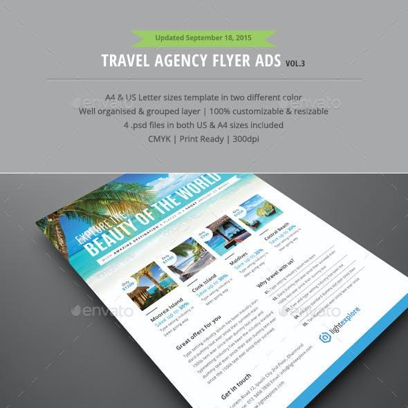 Travel Agency Flyer Ads Vol.3