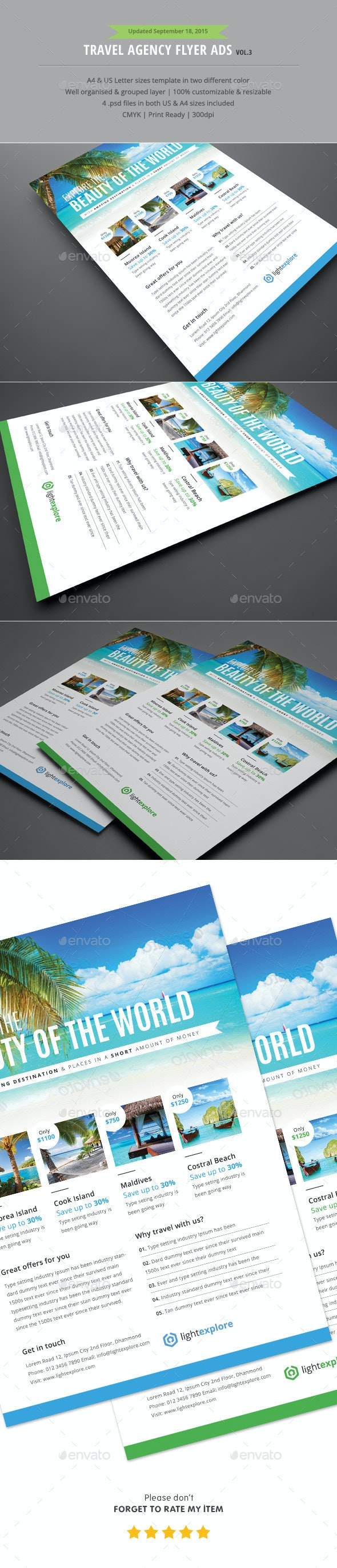 Travel Agency Flyer Ads Vol.3 - Holidays Events