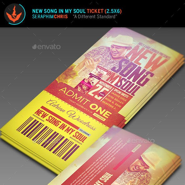 New Song in My Soul Ticket Template