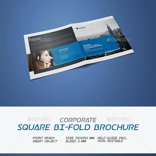 Square Corporate Bifold Brochure
