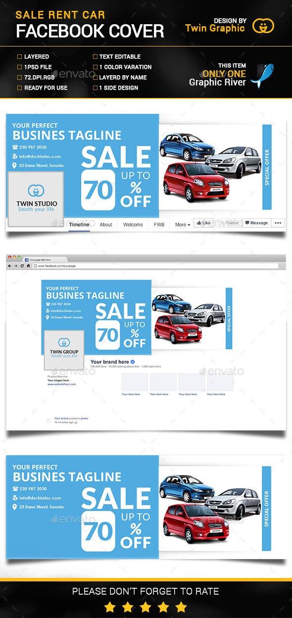 Sale Rent Car Facebook Cover Photo Design - Social Media Web Elements