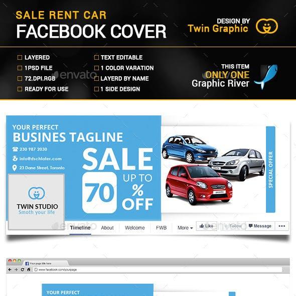 Sale Rent Car Facebook Cover Photo Design