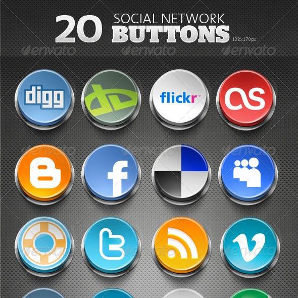 20 Social Network Buttons