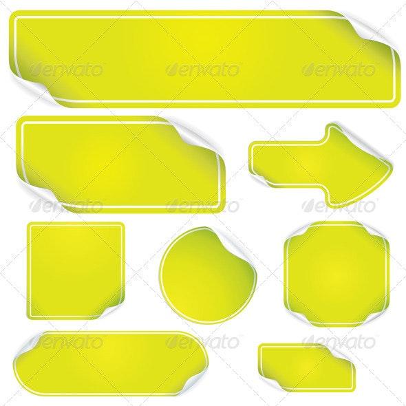 Green Stickers - Characters Vectors