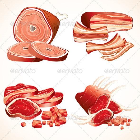 Meat Set - Food Objects