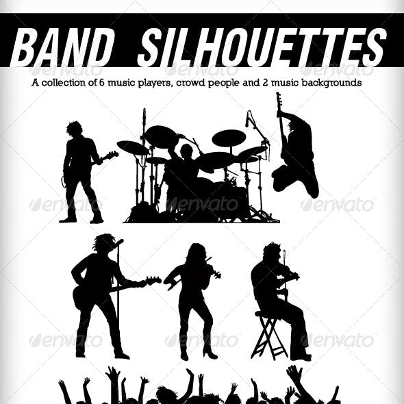 Band silhouettes