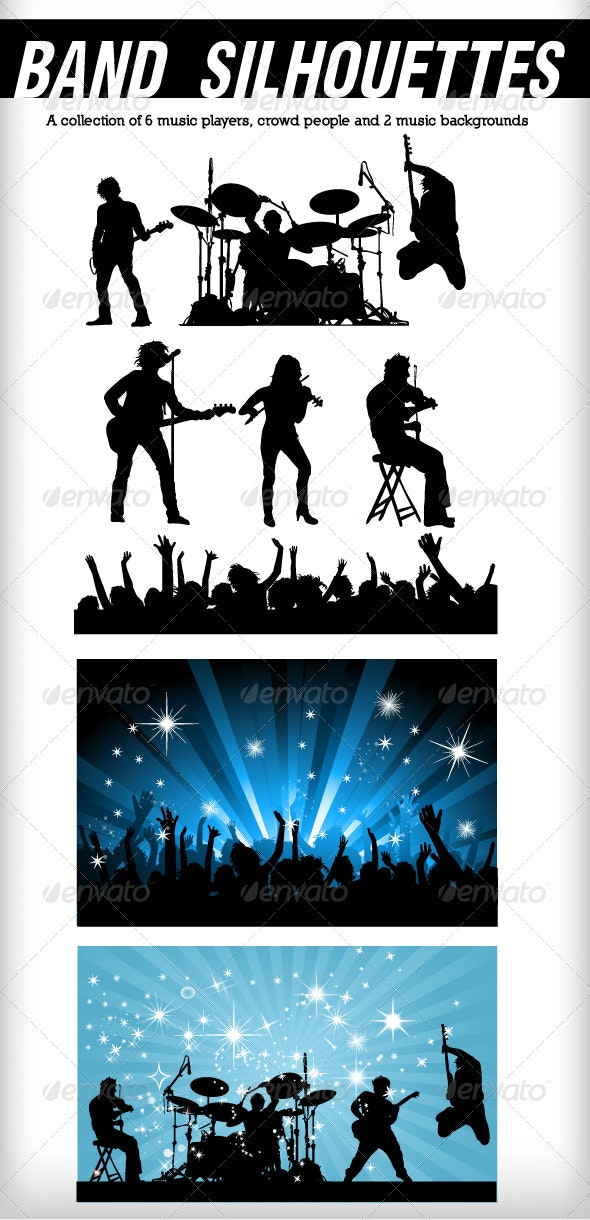 Band silhouettes - People Characters
