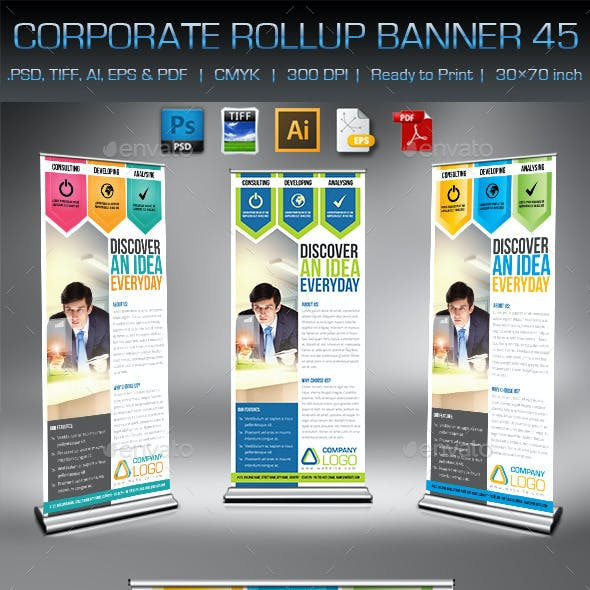 Corporate Business Rollup Banner 45