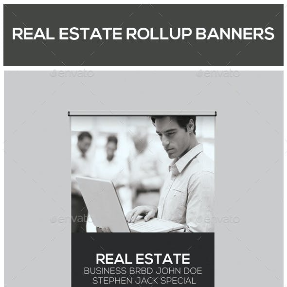 Real Estate Business Roll-Up Banners Bundle