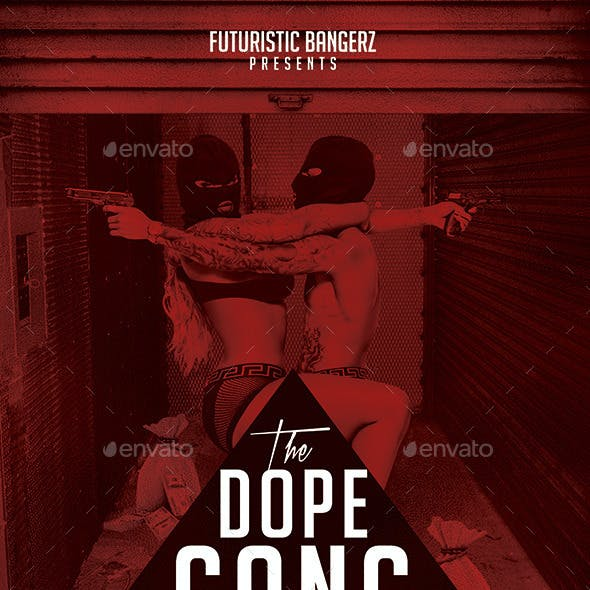The Dope Gang | Hip-Hop Modern Flyer PSD Template