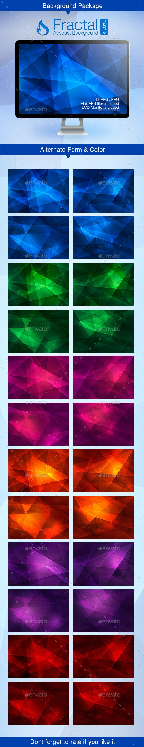 Fractal Abstract Background - Part 2 - Backgrounds Decorative