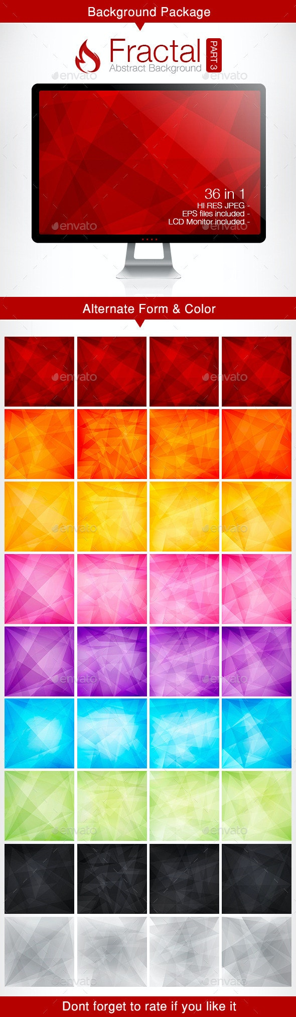 Fractal Abstract Background - part 3 - Backgrounds Decorative